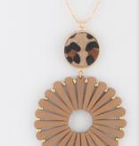 JA Leather Wrap Necklace 2049