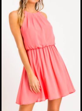 LSH High Neckline Pleated Dress 92196