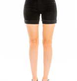 KC Mid Rise Shorts With Hem Detail 5027