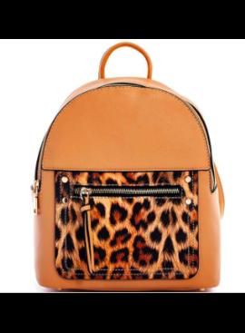 JA Macy Leopard Detail Backpack 0992