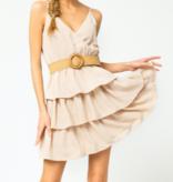 ETO Belted Tiered Ruffle Dress 14193