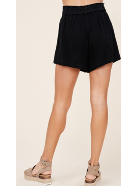 ST Ruffle Elastic Buttoned Down Shorts 42425