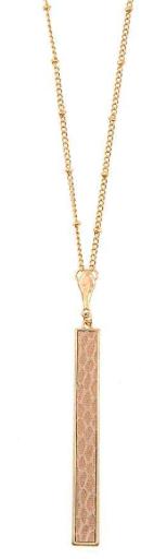 JA Animal Print Bar Necklace 184093