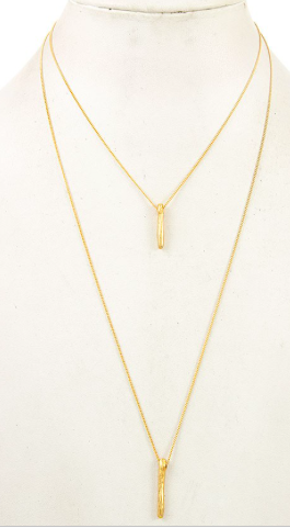 JA 2 Layer Bar Necklace 177067