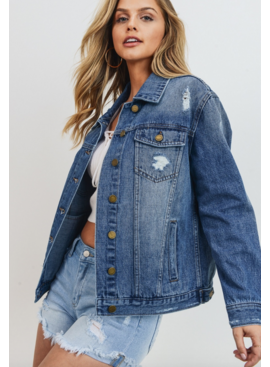 JBD Distressed Denim Jacket 463