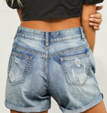 LC Distressed Jean Shorts 3209
