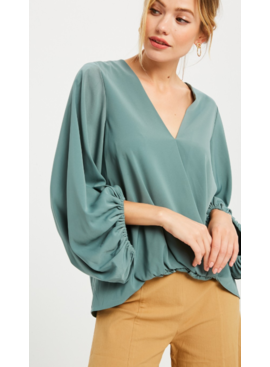 WL Sara Balloon Sleeve Top 2937