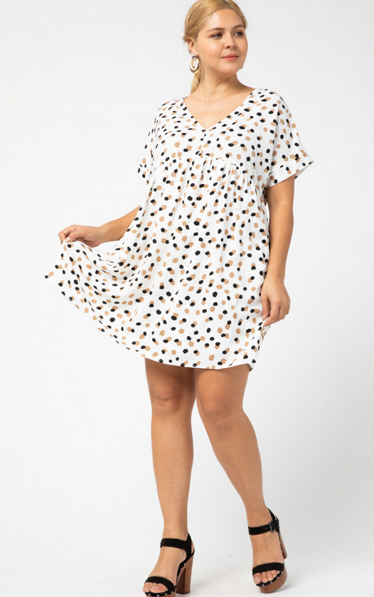 ETO Sarah Spotted Dress 13611