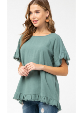 ETO Rush Ruffle Top 13631P