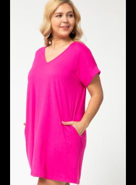 ETO Cuffed Sleeve T-Shirt Dress 4576P