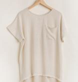 Umgee Lucy Linen Cuffed Sleeve Top 5623