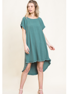 Umgee Ronnie Fringe Sleeve Pocket Dress 1716