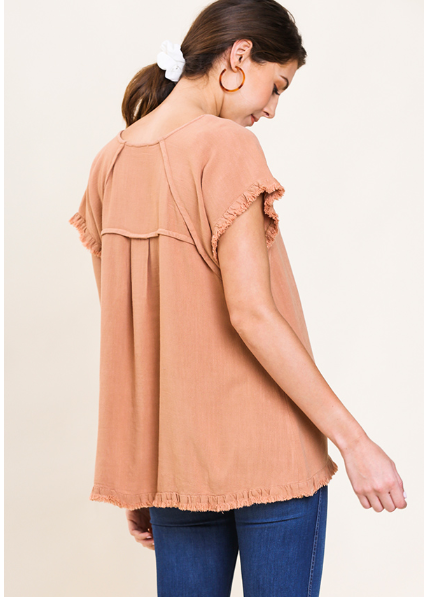 Umgee Alexis High low Fringe Top 1819