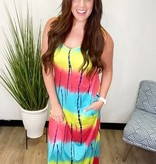 CM The Perfect Addition Tye Dye Maxi Dress