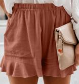 LC Ruffled Linen Shorts 7241