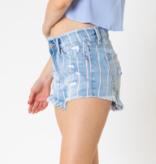 KC Mikayla High Rise Stripe Shorts 9219