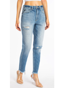 KC Darla High Rise Mom Jean 8449