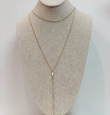 JA 2 Layer Arrow Necklace 156546