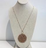 JA Studded CIrcle Necklace 1451