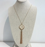 JA Clover Tassel Necklace 183342