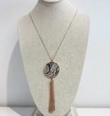 JA Circle with Tassel Necklace 183340