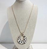JA Long Chain Leopard Necklace 6793