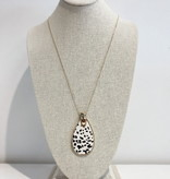 JA Leopard Tear Drop Necklace 6765