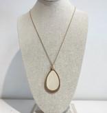 JA Tear Drop Long Necklace 2083