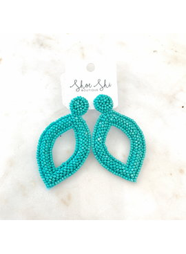 JA Beaded Teardrop Earrings 0052