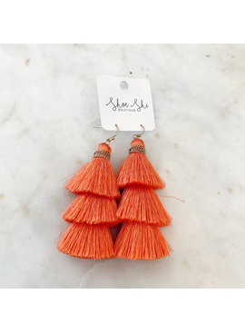 MG Fish Hook Thread Tassel Earrings 583