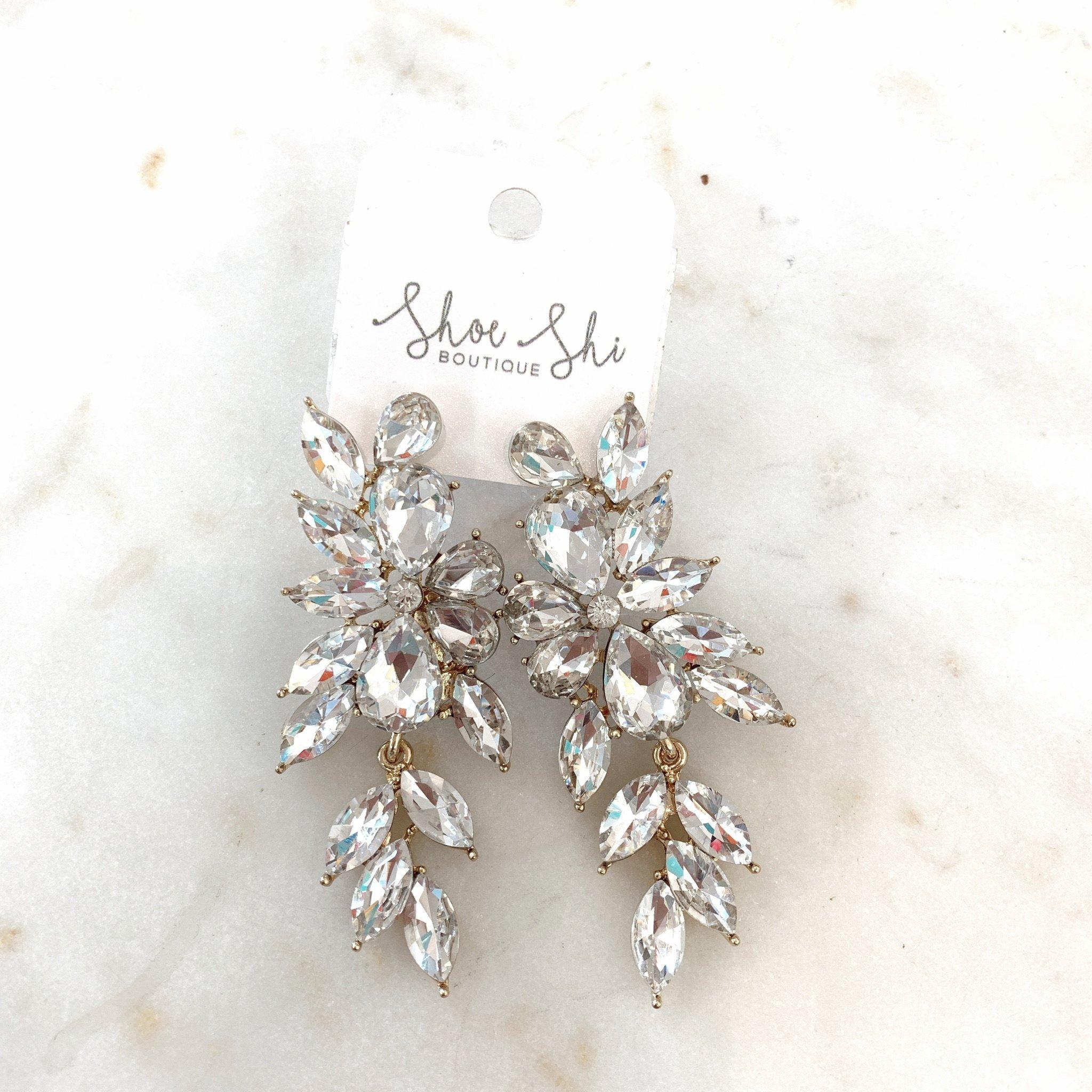 apc Crystal Marquise Dangle Evening Earrings 1260