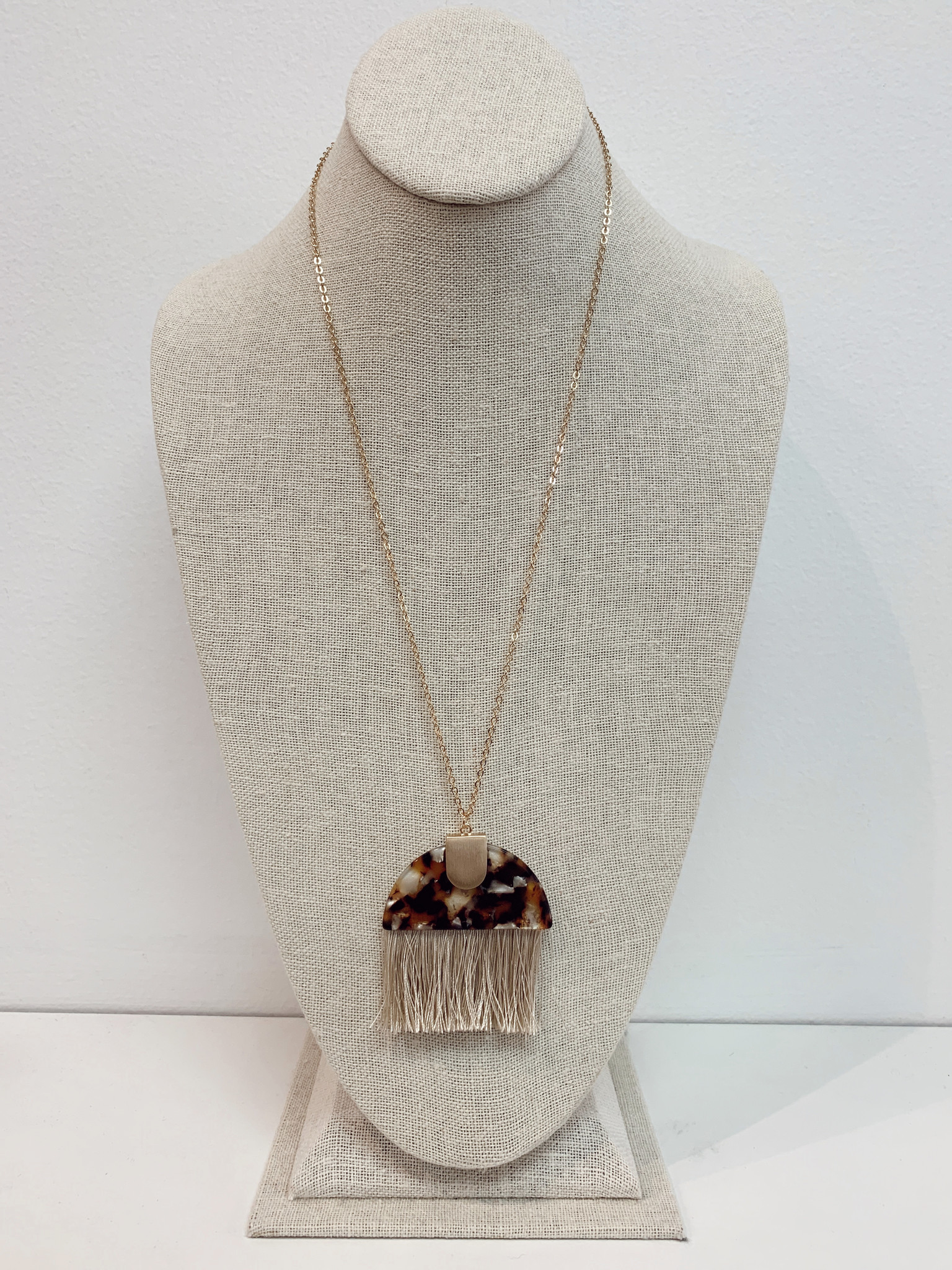 JA Half Circle Tassle Necklace 0167