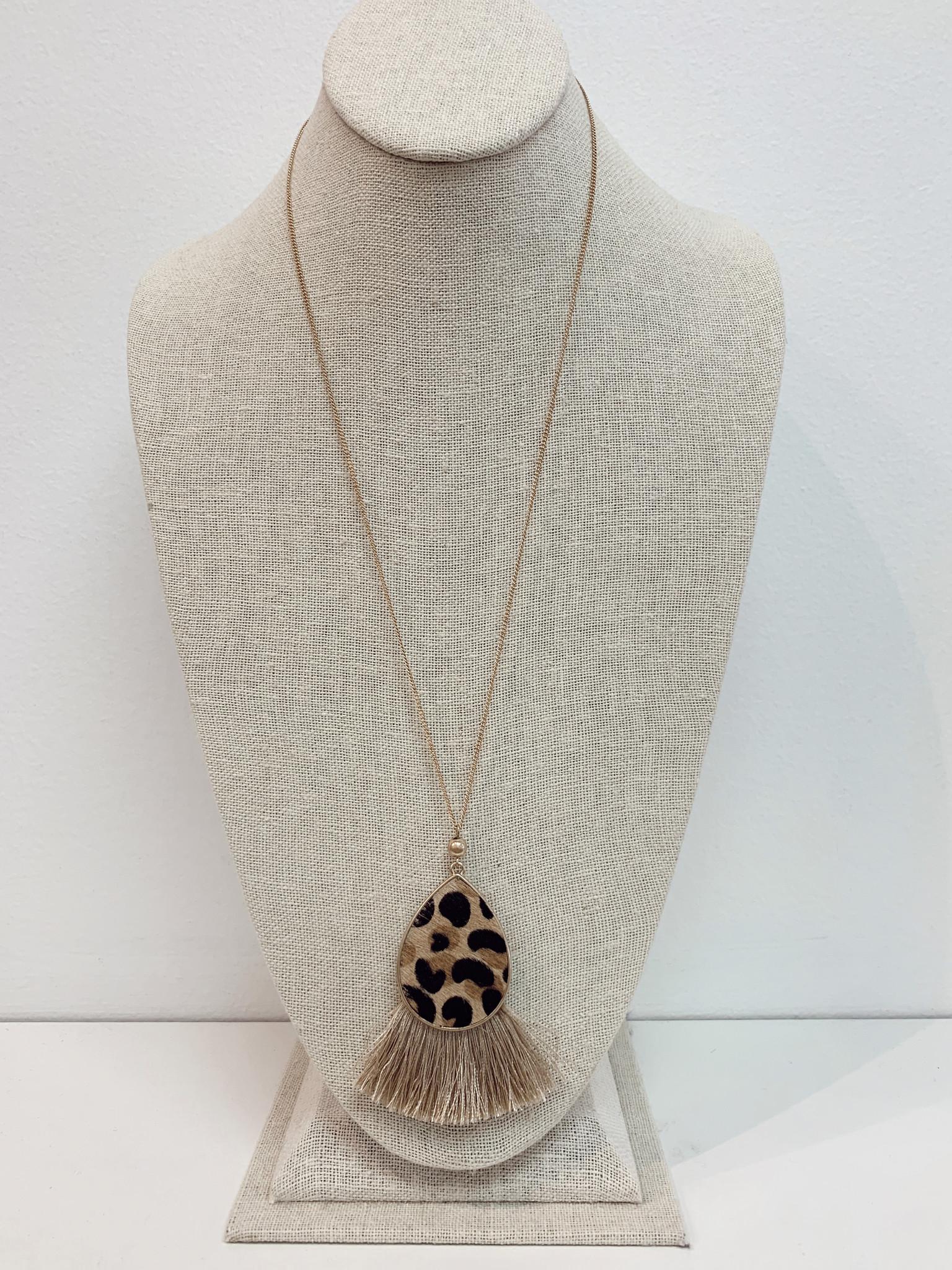 JA Teardrop Tassel Necklace 7084