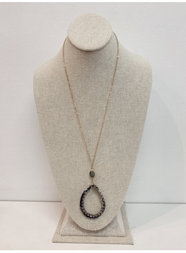 Crystal Teardrop necklace 4380