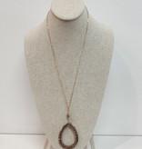 Crystal Teardrop necklace 4380