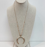 Crescent moon necklace 2048