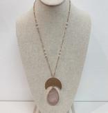 JA Half Moon Teardrop Necklace 1125