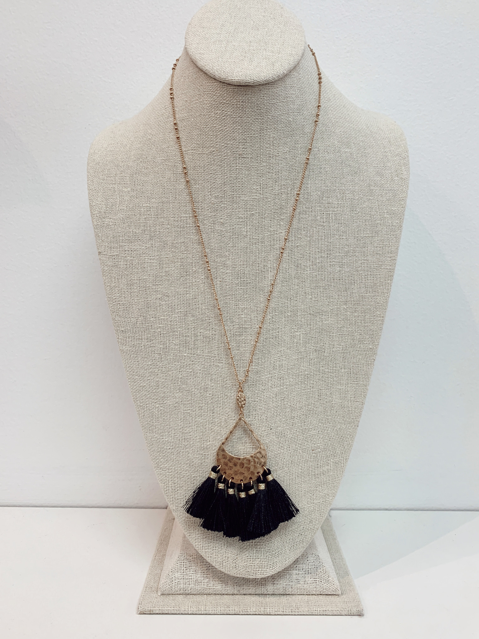 Teardrop Tassel Necklace 2778