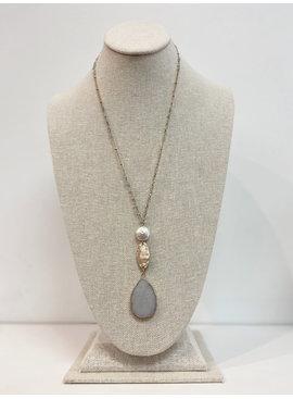 JA Tear Drop Pearl Necklace 179166