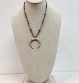 PA Long Half Beaded Crescent Necklace 72971