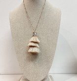 JA Feather Tiered Gold Chained Necklace