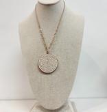JA Beaded Pendant Necklace 2105