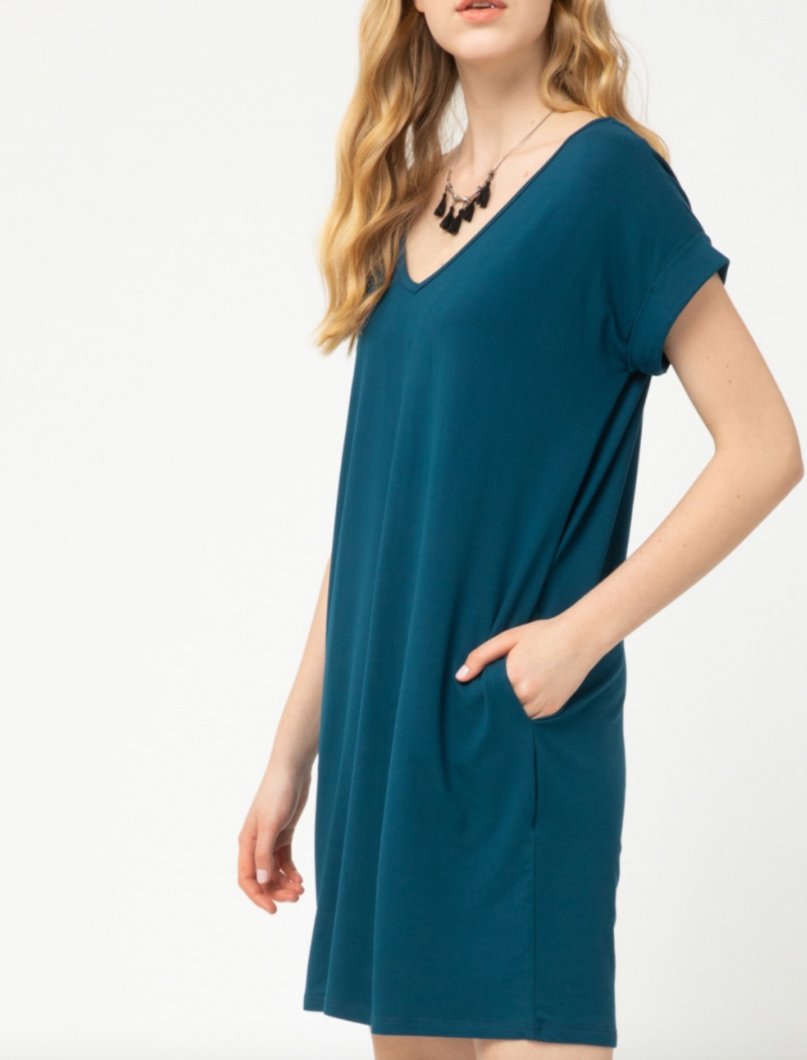 EO Cuffed Sleeve T Shirt Dress 4576