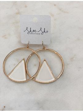CA Geometric Earrings
