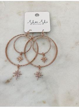 CA North Star Double Hoop Earrings