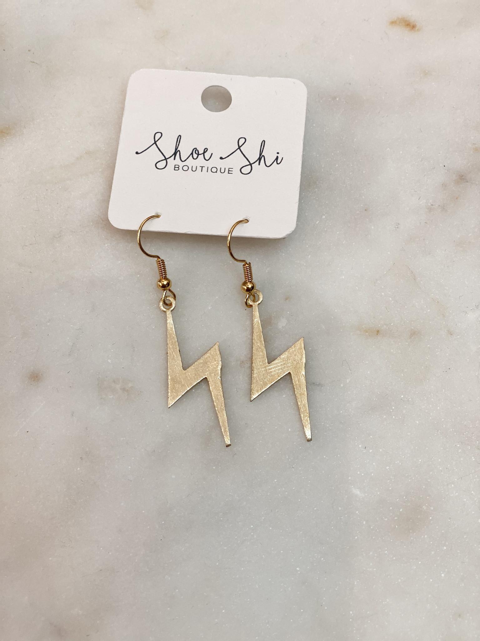 SAJ Flash Out Lightning Earrings
