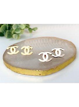 SAJ CC Stud Earrings