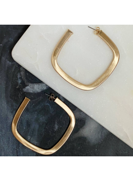 FR Luxe Square Hoops 451
