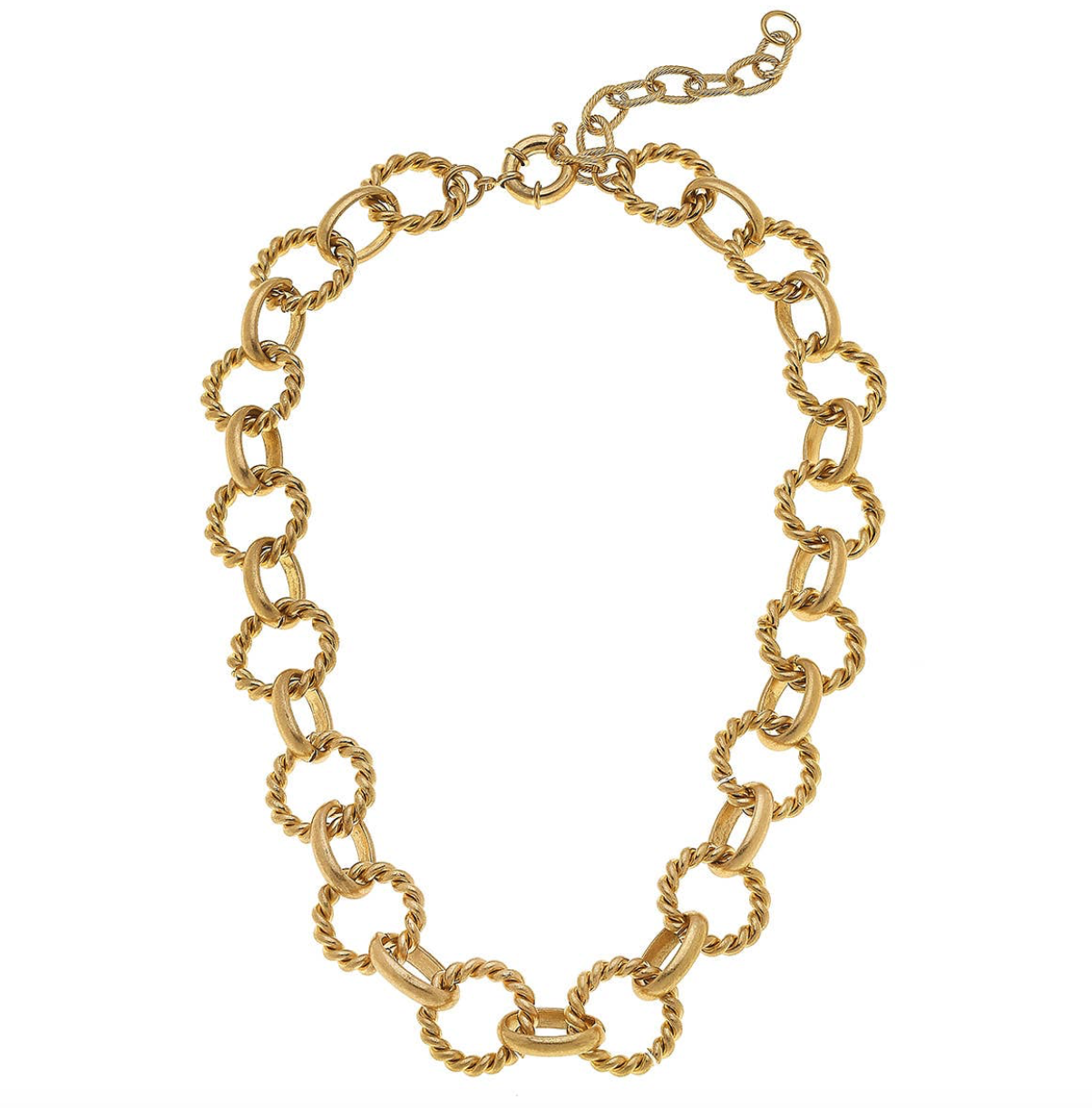 CV Twist Rings Chain Necklace 21986