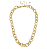 CV Scallop Chain Link Necklace 21878